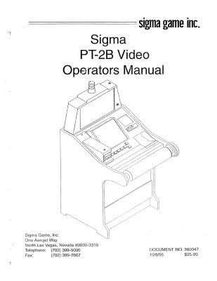 Sigma Slot Machine Manual