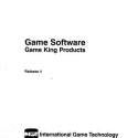 I.G.T. Game King Products, Game Software Manual