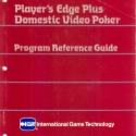I.G.T. Player's Edge Plus, Domestic Video Poker, Program Reference Guide Manual