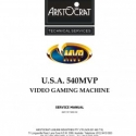 Aristocrat U.S.A. 540 MVP Video Gaming Service Manual