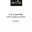 Aristocrat USA MAV 500 Video Gaming Service Manual.