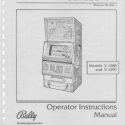 Bally Manual for the Video Slot Machine, Model Series V-1000