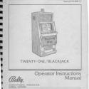 Bally V-2000 Video Twenty-One BlackJack Manual F0-850-17
