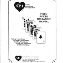 CEI Casino Electronics Incorporated Video Poker Manual for Version 51.03