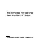 I.G.T. Game King Plus Maintenance Procedures 19