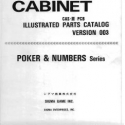 Sigma B-8 Cabinet parts catalog poker & numbers series